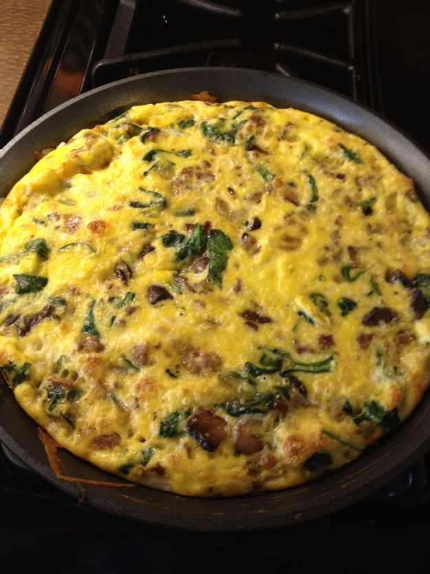 I used some of the eggs to make a spinach, onion, mushroom and cheese frittata. I also plan on making an angel food cake this weekend.