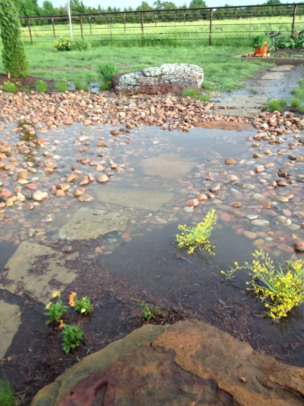 Low water crossing. Do not enter when flooded!  It has been wonderful getting rain.  The lakes could still use more rain.