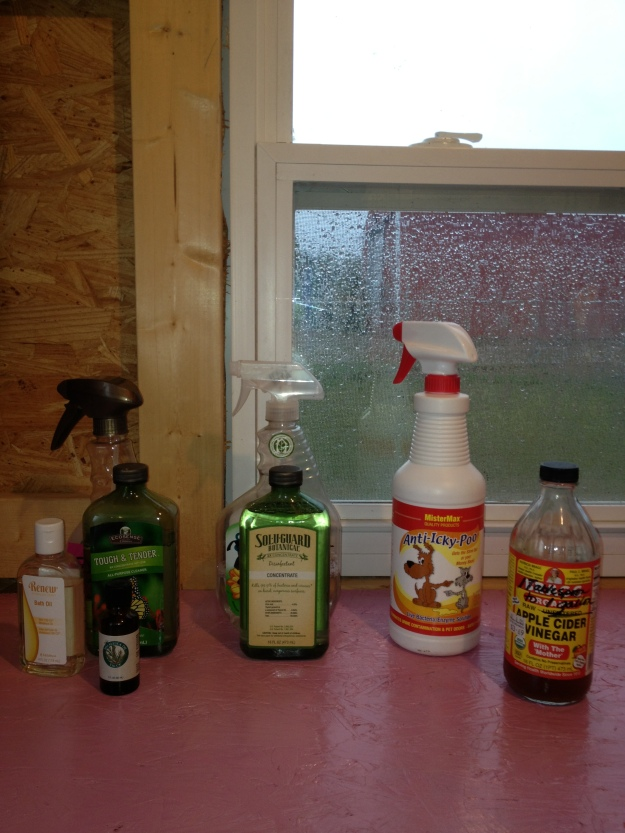 These are some of the products that I use daily. For fly control, I use a mixture of Melaleuca products, 1 tsp of Tough and Tender, 1 tsp of Renew Bath Oil, and 10 drops of T36-C5 Melaleuca Oil (tea tree oil). I disinfect the walls and roost daily with Sol-U-Guard, another Melaleuca product. Anti-Icky-Poo is a great odor control. It is a live bacteria to eliminate any organic bacteria. Anti-Icky-Poo's friendly microbes eats away the source of odor and eliminates the problem from returning. I also put apple cider vinegar in their water. ACV causes an alkaline effect which reduces the likelihood of illness and helps to support the immune system. I enjoy using these products and they are all safe for the environment and pets, and they really, really work! If you are interested in Melaleuca, let me know as I can get you in touch with some wonderful people who would be more than happy to help you get starting with Melaleuca.